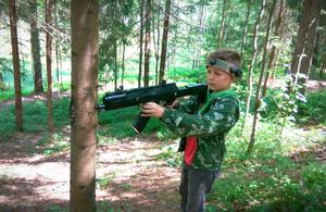 Детский лагерь Валдайская робинзонада. Лазерные войны